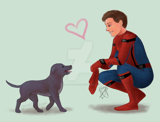 Spider-Man and Tessa by pastelshark1103