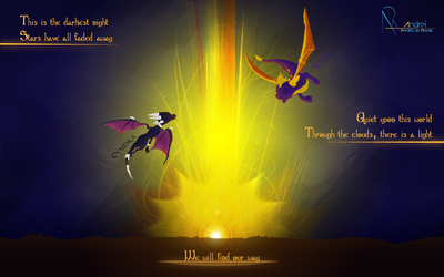 Spyro and Cynder by AndreiAPM