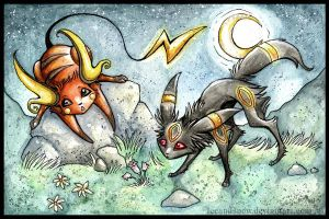 Raichu and Umbreon
