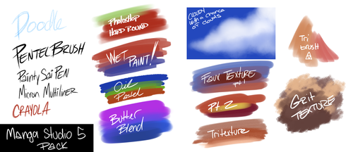 Manga Studio Brushes for MS5/CSP by geekysideburns