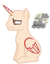 |MLP BASE #6| I'll cry by Sapphire-M00nLight