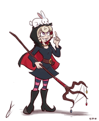 COMM - Witch  Tilly and Snowball by Atrox-C