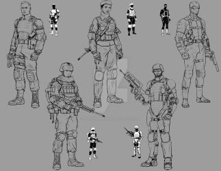 Art Test - Military Game: Thumbs + Initial Designs by effektdmentality