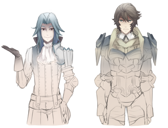 Fire Emblem: Virion and Frederick by Kialun