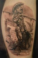Srdjan tattoo - spartan by srdjantattoo