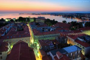 Dusk over the town by ivancoric