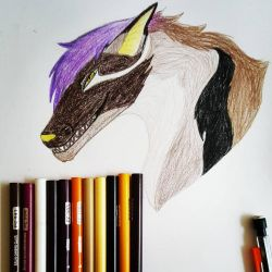 picture in pencil by cursedwolf102