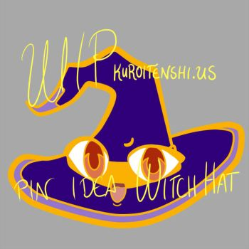 Halloween Themed Pin:  Witch Hat by kuroitenshi13