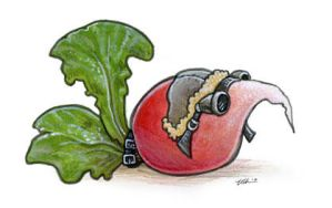 The Radish Wore Goggles by ursulav