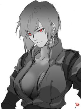Motoko in S.A.C by 89g