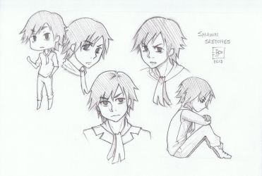 8 Shawn Sketches by Neysun