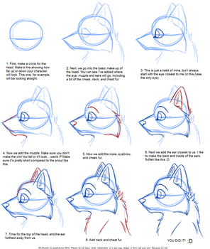 How to Draw: Canine Profile Tutorial by JustAutumn