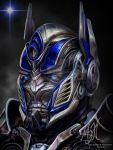 Transformers: AOE - Optimus Prime Face by MessyArtwok