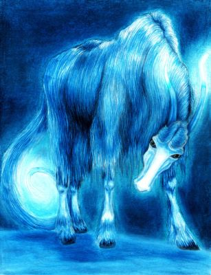 A Glowing Horse-Yak by BurningPuppets