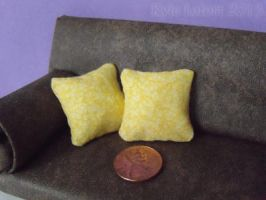 Miniature Yellow Pillows by Kyle-Lefort