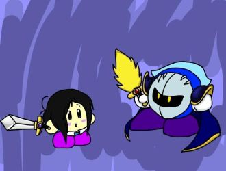 Chris and Meta Knight-training by NoxidamXV