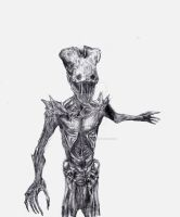 Monstrum: The FIEND (Pencil Sketch) by Adam-The-Person