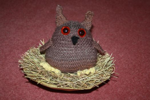 Knitted Owl by Aura3107