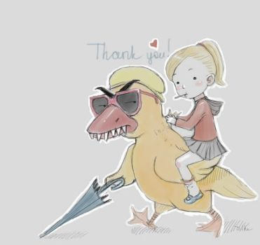 Brittany riding the Evil Duck by tilhe
