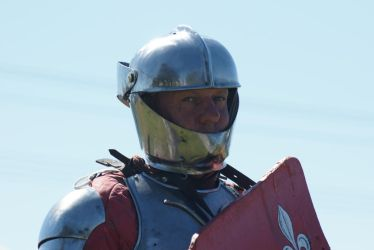 Sir Justin A mighty jouster ready for battle. by scratzilla