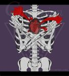Skeleton - Heart and Blood by Championx91