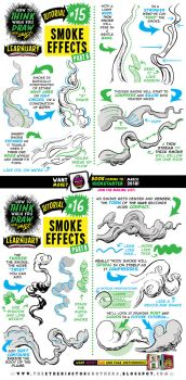 How to draw SMOKE EFFECTS tutorial by STUDIOBLINKTWICE