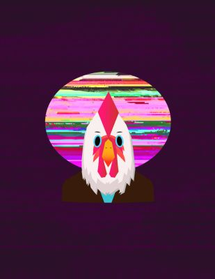 Hotline Miami Cock with Glitch Moon by HarvestBlackApples