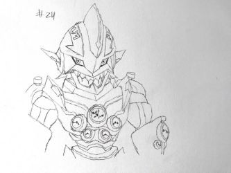 Digimon Sketch Challenge: Day #24 by Omnimon1996