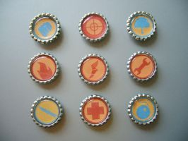 TF2 Team Fortress 2 Magnets by Monostache