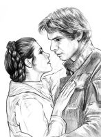 Han and Leia by jasonpal