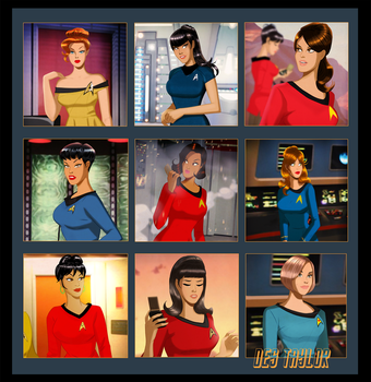 Trek Girls By Des Taylor by DESPOP