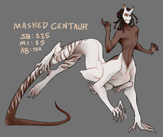 Auction: Masked Centaur CLOSED by Spockirkcoy