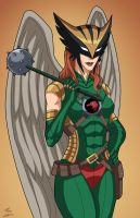 Hawkwoman (Earth-27) commission by phil-cho