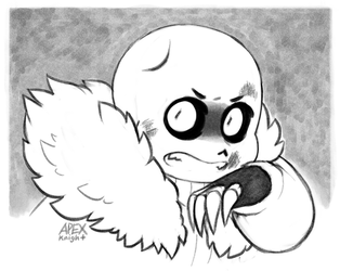 Young Blizzard Sans gets into a fight by APEX-Knight