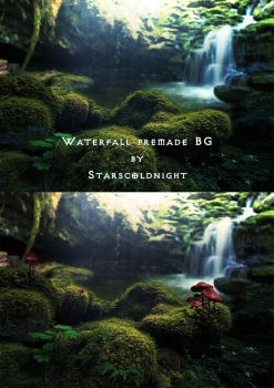 waterfal 2 premade BG  by starscoldnight by StarsColdNight