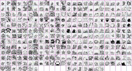 Pokemon Red/Blue Hack Sprites by CadmiumRED