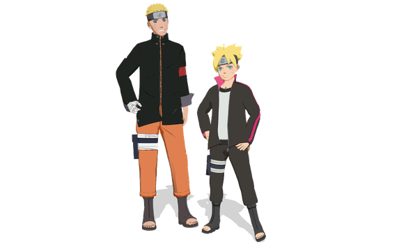 The Last Naruto and Boruto for MMD by StekinoMai
