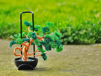 Curly Bonsai by beads-poet