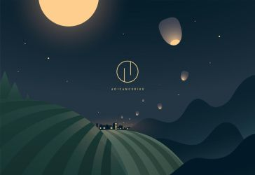 Mid Autumn festival night landscape vector by AoiCancerius