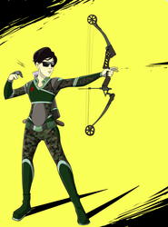 COMMISSION: Rising Sun Archer by TricksyWizard