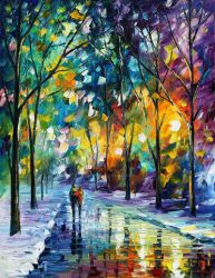 Frozen Path by Leonid Afremov by Leonidafremov
