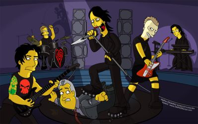 Marilyn Manson Simpsons. by edwheeler