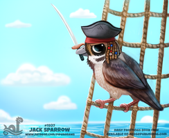 Daily Paint 1937# Jack Sparrow by Cryptid-Creations