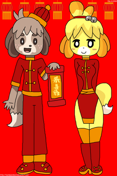 Chinise Doggies 2018 Isabelle and Digby by teamlpsandacnl