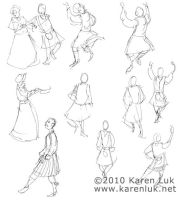 Dickens Faire sketches 3 by karenluk