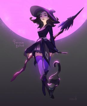 purple witch by RikkuTakedo