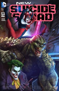 Suicide Squad: Mock Cover by pinkhavok