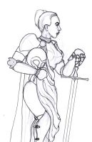 Female Knight by Captroop