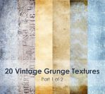 20 vintage grunge textures (part 1 of 2) by Princess-of-Shadows
