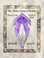 Middle-earth heraldry: Penlodh (Tower of Snow) by Aglargon